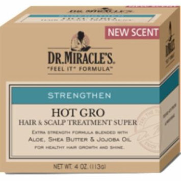 4 Pack - Dr. Miracle's Strengthen Hot Hair & Super Strength Scalp Treatment, 4 oz