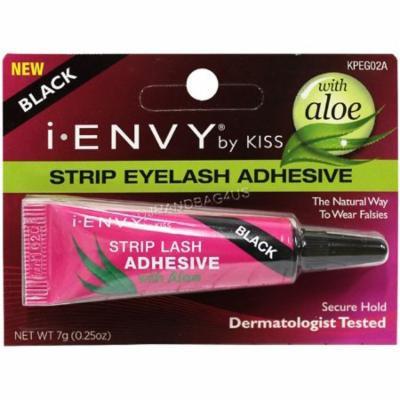 KISS iEnvy Strip Eyelash Adhesive with Aloe, Black 0.25 oz