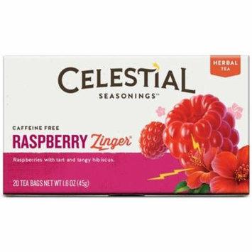 3 Pack - Celestial Seasonings Raspberry Zinger Natural Herb Tea 20 ea