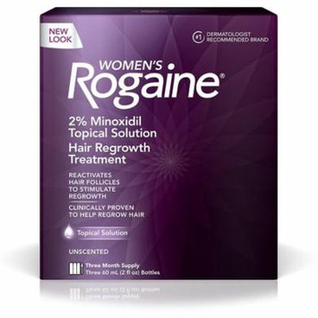 3 Pack - Rogaine Women's 3 Month Supply, Unscented 6 oz 3 ea