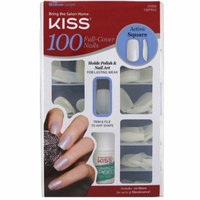 3 Pack - KISS Nails 100 Full Cover Medium Length Nails Kit, Active Square 1 ea