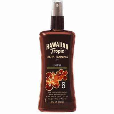 Hawaiian Tropic Dark Tanning Oil, Spray Pump, SPF 6 8 oz