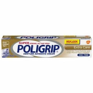 SUPER POLIGRIP Denture Adhesive Cream Extra Care 2.20 oz