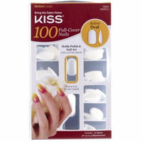 KISS Full Cover Nails Kit, Medium, Active Oval 1 ea