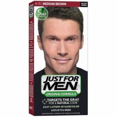6 Pack - JUST FOR MEN Hair Color, Medium Brown 35, 1 ea