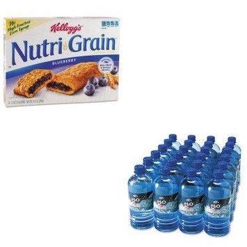 KITKEB35745OFX00027 - Value Kit - Office Snax Bottled Spring Water (OFX00027) and Kellogg's Nutri-Grain Cereal Bars (KEB35745)