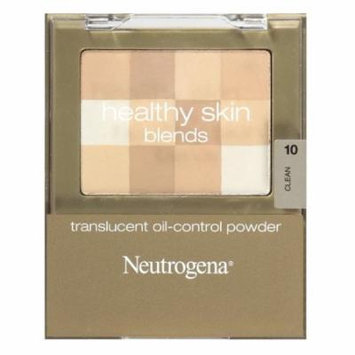 Neutrogena Healthy Skin Translucent Oil-Control Powder, Clean 10, 0.2 Oz + Makeup Blender