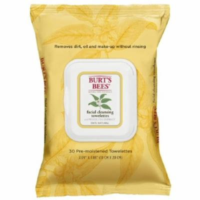 6 Pack - Burt's Bees Facial Cleansing Towelettes with White Tea Extract 30 ea