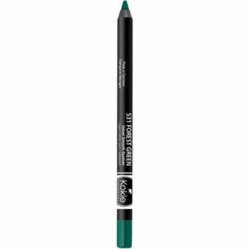 Kokie Professional Velvet Smooth Eyeliner, Forest Green, 0.04 oz