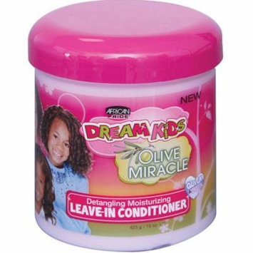 2 Pack - African Pride Dream Kids Olive Miracle Leave-In Conditioner, 15 oz