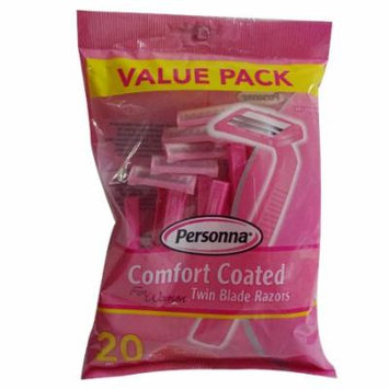 Personna Comfort Coated Twin Blade Razors, For Women - 20 ea, 3 Pack