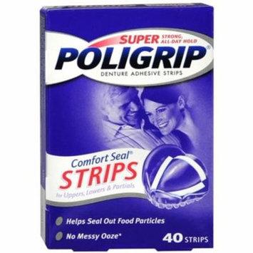 6 Pack - SUPER POLIGRIP Comfort Seal Strips 40 Each