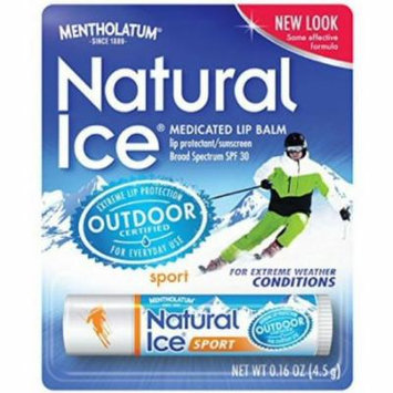 3 Pack - Mentholatum Natural Ice Sunscreen/Lip Protectant SPF 30 Sport 1 Each
