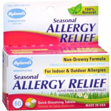 2 Pack - Hyland's Seasonal Allergy Relief Tablets 60 Tablets