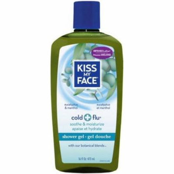 Kiss My Face Cold + Flu Shower Gel, Eucalyptus & Menthol 16 oz