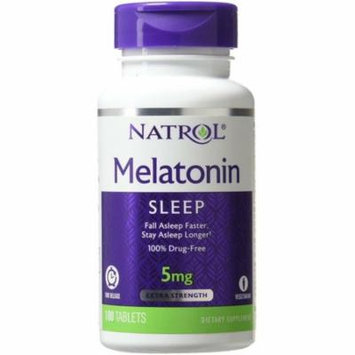 3 Pack - Natrol Melatonin Time Release 5mg Tablets 100 ea