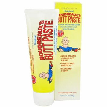 4 Pack - Boudreaux's Butt Paste Tube, Diaper Rash Ointment 4 oz