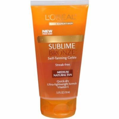 4 Pack - L'Oreal SUBLIME BRONZE Self-Tanning Gelee Medium-Natural 5 oz