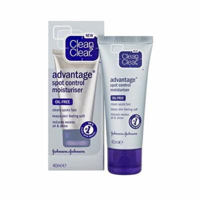 Clean & Clear Advantage Spot Control Moisturizer, Oil-Free, 40ml/1.35oz + Curad Dazzle Bandages 25 Ct