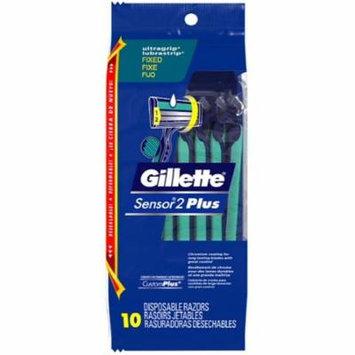 2 Pack - Gillette Sensor 2 Pus Razors 10 Each