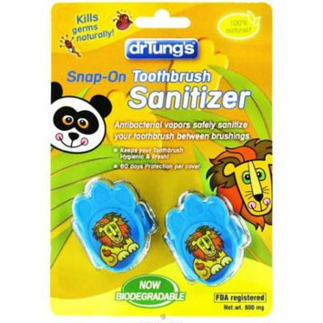 4 Pack - Dr. Tung's Kid`s Snap-On Toothbrush Sanitizer 2 ea - Colors May Vary