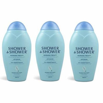 Shower to Shower Absorbent Body Powder, Morning Fresh with Lavender, 8 Oz (Pack of 3) + LA Cross Tweezers 71817