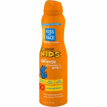 2 Pack - Kiss My Face Kids Defense Continuous Spray Sunscreen SPF 50 6 oz