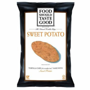 Food Should Taste Good Sweet Potato Tortilla Chips 5.5 oz - Pack of 12