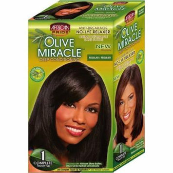 3 Pack - African Pride Olive Miracle Deep Conditioning No-Lye Relaxer - Regular Kit 1 ea