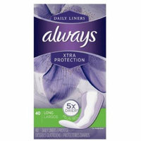 4 Pack - Always Daily Liners Xtra Protection Long Liners 40 ea