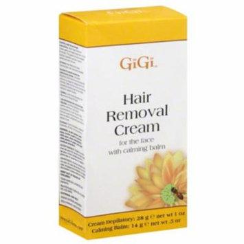 6 Pack - GiGi Hair Removal Cream for The Face, 1 oz & Calming Balm .5 oz