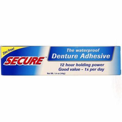 2 Pack - Secure Denture Waterproof Adhesive 1.40 oz