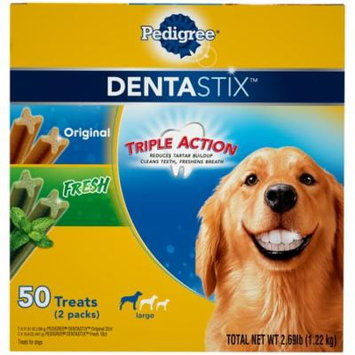 Pedigree Dentastix Large Dental Dog Treats Original And Fresh Variety Pack