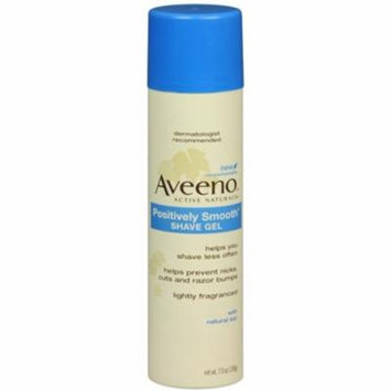 2 Pack - AVEENO Positively Smooth Shave Gel 7 oz