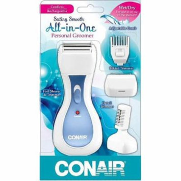 6 Pack - Conair Satiny Smooth Ladies All-in-One Personal Groomer 1 ea