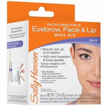 4 Pack - Sally Hansen Microwaveable Eyebrow, Face & Lip Wax Kit