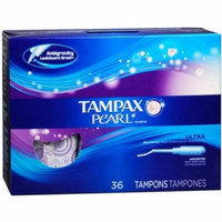 2 Pack - Tampax Pearl Tampons Ultra Absorbency Unscented 36 Each