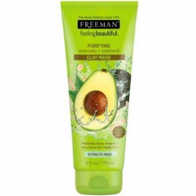 Freeman Feeling Beautiful Facial Clay Masque Avocado & Oatmeal 6 oz