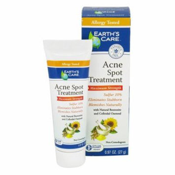 Earths Care Acne Spot Treatment Maximum Strength - 0.97 Oz, 3 Pack