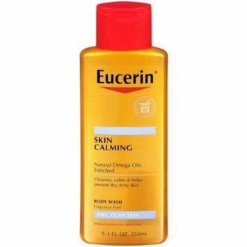 6 Pack - Eucerin Skin Calming Dry Itchy Skin Body Wash 8.40 oz