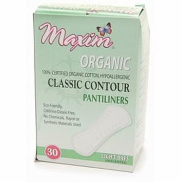 3 Pack - Maxim Hygiene Products Organic Classic Contour Pantiliners, Light Days, Unscented 30 ea