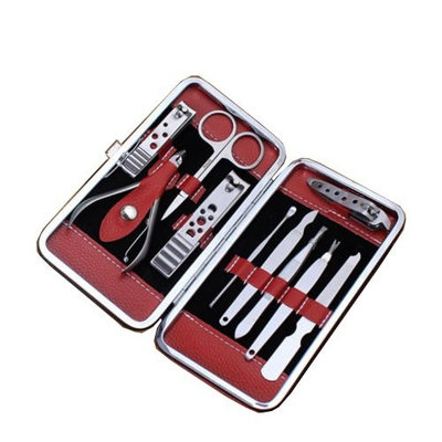 10-in-1 Pedicure / Manicure Set Nail Clippers Cleaner Cuticle Grooming Kit Case