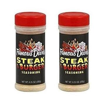 Famous Daves Steak & Burger Seasoning 8.25oz (Pack of 2)