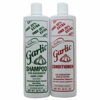 Nutrine Garlic Shampoo & Conditioner Unscented 20 Fl. Oz Duo for Hair Loss