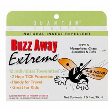 4 Pack - Buzz Away Insect Repellent Towelettes 12 ea