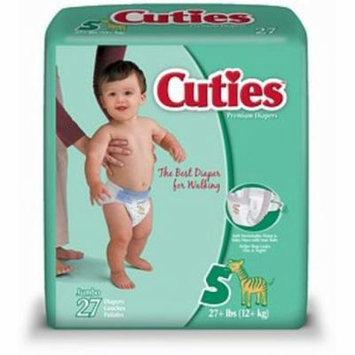 4 Pack - Cuties Premium Diapers Size 5 27 Each [4 packs per case]
