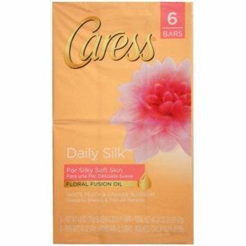 3 Pack - Caress Beauty Bar Daily Silk 4 oz, 6 Bar