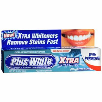 Plus White Xtra Whitening Toothpaste With Peroxide- 2 Oz, 2 Pack