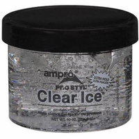 3 Pack - Ampro Clear Ice Protein Styling Gel, Ultra Hold 10 oz