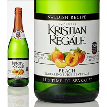 Kristian Regale Sparkling Beverages, Peach, 25.4-ounce Bottles (Pack of 2)